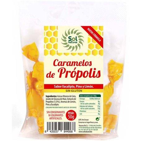 Caramelos Própolis Eucalipto 50 gr. Sol Natural