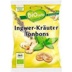 Caramelos Jengibre Hierbas Bio 75 gr. BioDeta