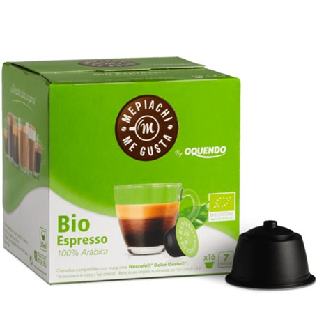 Cápsulas dolcegusto compostables café 100% arábica bio 16 ud. Oquendo