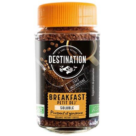 Café instantáneo soluble Breakfast Bio 100 gr. Destination