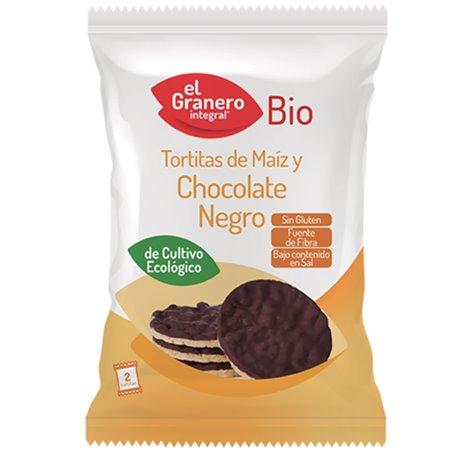 Tortitas Maíz Chocolate Negro Coco 33 gr. Granero