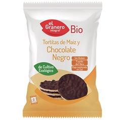 Tortitas Maíz Chocolate Negro Bio 33 gr. Granero