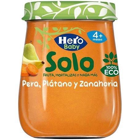 Potito Plátano Zanahoria Ecológico 120 gr. Hero