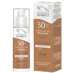 Crema Solar Facial color Dorado SPF30 Bio 50 ml. Alga Maris