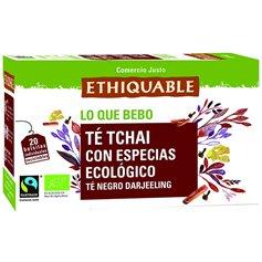 Té Chai Bio Comercio Justo bolsitas 20 ud. Ethiquable