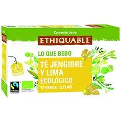Té Verde Jengibre Lima Bio Comercio Justo 20 ud. Ethiquable