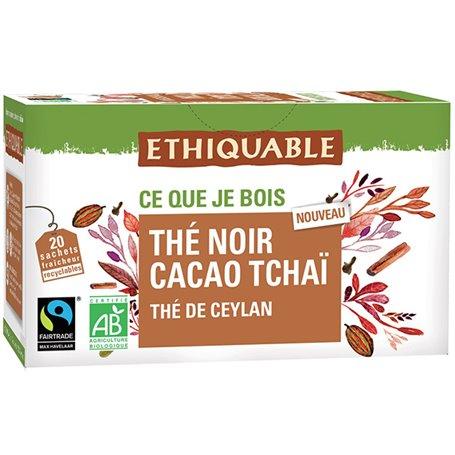 Té Negro Cacao Chai Bio bolsitas 20 ud. Ethiquable