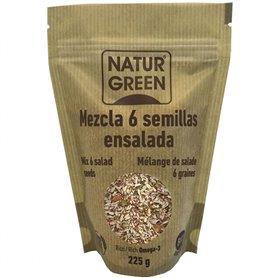 Mezcla 6 semillas ensalada Bio 225 gr. Naturgreen