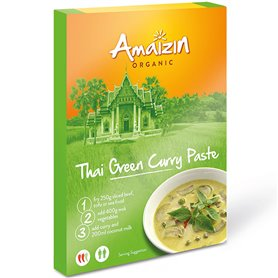 Pasta Curry Verde Thai Bio 80 gr. Amaizin