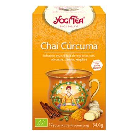 Yogi Tea Chai Cúrcuma Bio bolsitas 17 ud.