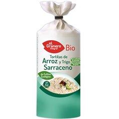 Tortas Arroz y Trigo Sarraceno sin gluten Bio 115 gr. El Granero