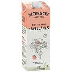 Bebida Arroz Avellanas Bio 1 l. Monsoy