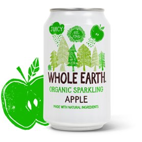 Refresco Manzana Bio 33 cl. Whole Earth