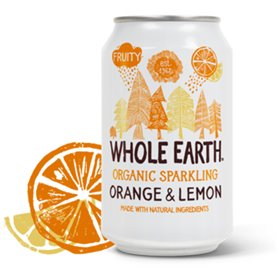Refresco Naranja Limón Bio 33 cl. Whole Earth