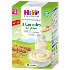 Papilla 3 cereales sin gluten Bio 400 gr. Hipp