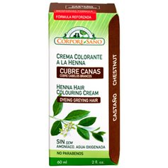 Henna Crema Castaño 60 ml. Corpore