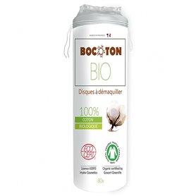 Discos desmaquillantes algodón ecológico 80 ud. Bocoton