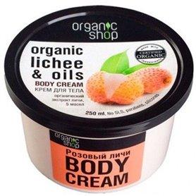 Crema corporal lichi y 5 aceites Bio 250 ml. Organic Shop
