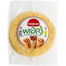 Wrap multicereal sin gluten 4 ud. 260 gr. Nagual