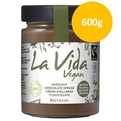 Crema Untar Choco Avellana Bio 600 gr. La Vida Vegan