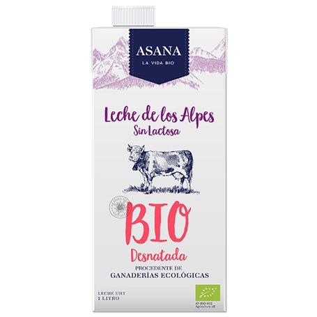 Leche Desnatada sin lactosa los Alpes Ecológica 1 l. Asana