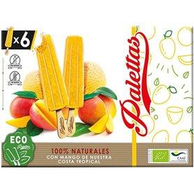 Helados palo Mango Bio 6x52 gr. Palettas