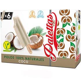 Helados palo Coco Natural 6x52 gr. Palettas