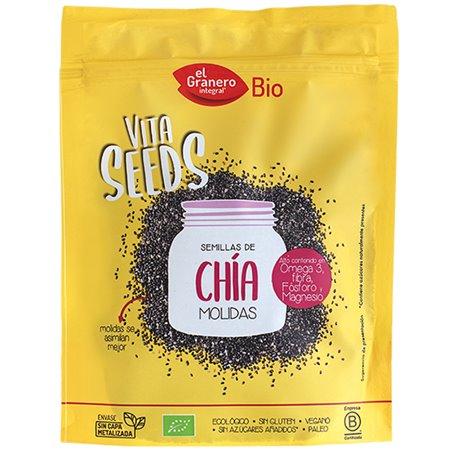 Semillas Chía molidas Bio 200gr. Vitaseeds El Granero