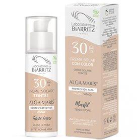Crema Solar Facial color Marfil SPF30 Bio 50 ml. Alga Maris