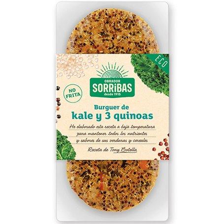 Hamburguesa Kale & 3 Quinoas Bio 2x80 gr. Sorribas