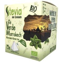 Té Verde Marrakech Stevia Bio pirámides 15 ud. Stevia Condado