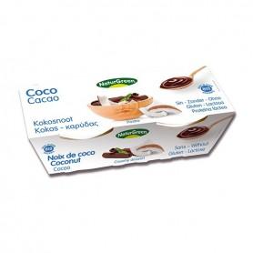 Postre Coco Cacao Ecológico 2x125 gr. Naturgreen