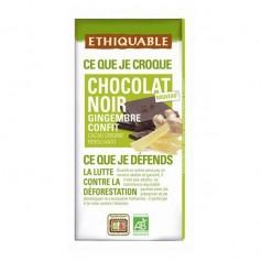 Chocolate Negro Jengibre Confitado Bio 100 gr. Ethiquable