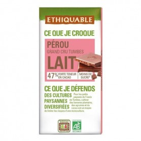 Chocolate Leche 47% Bio 100 gr. Ethiquable
