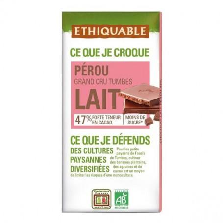 Chocolate Leche 47% Bio 100 gr. Ethiquable