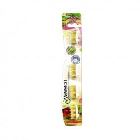 Recambio Cepillo Dental Natural Medio 4 ud. Yaweco