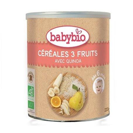 Cereales infantiles 3 frutas Quinoa Bio 220 gr. Babybio