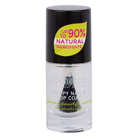 Esmalte Laca Uñas Crystal Transparente Top coat 5 ml. Benecos